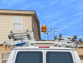 utility-truck-with-metal-ladders